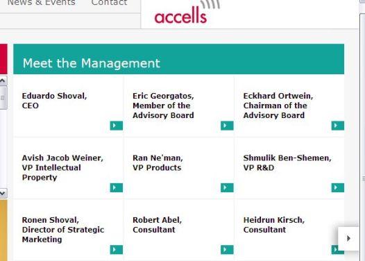 אדוארדו ורונן שובל בדף החברה. צילום מסך מאתר Accels